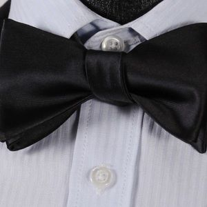 Other - 🎉100%Silk Jacquard Woven bow tie & Square Hanky🎉